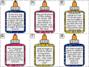 Back to School Math Centers | Back to School Activity {4th Grade Math Content}