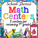 Back to School Math Centers | Back to School Activity {4th