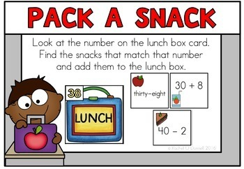 Free September Back to School Math Centers Second Grade