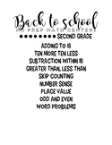 Back to School Math Centers- Second Grade / End of Year Re