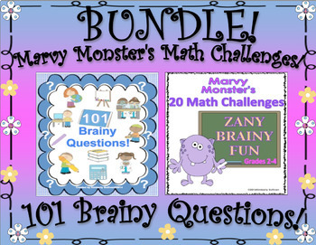 Math Centers and Brainy Questions! Grades 3 - 4
