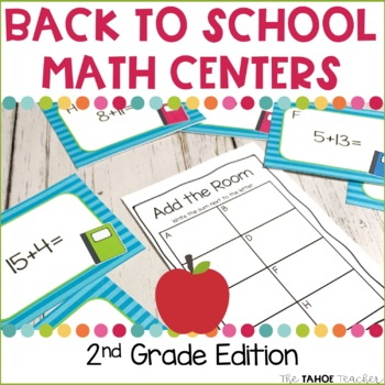 Back to School Math Centers for 2nd Grade