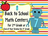 Beginning of Year Math Centers for 2nd Grade (Or EOY Review for 1st Grade)