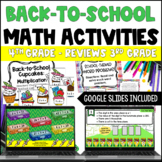 Back to School Math Centers for 4th Grade {3rd Grade Math Review}