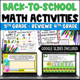 Back to School Math Centers for 5th Grade {4th Grade Math Review}