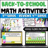 Back to School Math Centers for 5th Grade {Common Core Ali