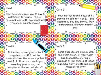 Back to School Math Centers for Fifth Grade {CC Aligned}