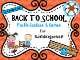 Back to School Math Centers for KINDERS! A Sampler!