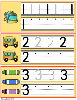 Back to School Math Centers for Kindergarten