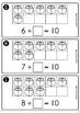 Back to School Math Centers for Kindergarten B&W