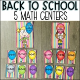 Back to School Math Centers for Second Grade