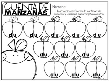 Back to School Math Centers in Spanish