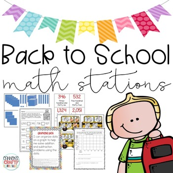 Back to School Math Centers (TEKS & Common Core Aligned)