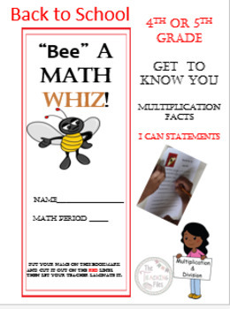 Back to School Math Champ Grades 4-5 Free Packet