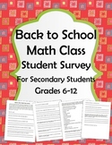 Back to School - Math Class!