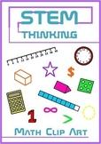 Back to School Math Clip Art Bundle, Angles, Fractions, Sh