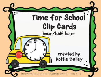 Back to School Math Clip Card Bundle