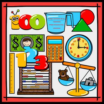Back-to-School Math Clipart Freebie (10 Pc.)