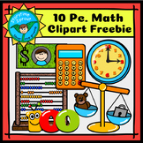 Back-to-School Math Clipart Freebie (10 Pc.)