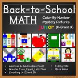 Back-to-School Math Color-By-Number Bundle (K-2)