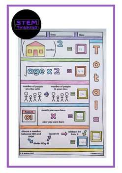 Back to School Math Color In Number Activity, Worksheet, Puzzle