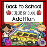 Back to School Math Coloring Sheets Addition