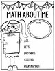 Back-to-School Math: Designed to Get to Know Your Classmates & School!