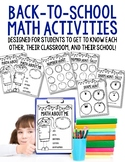 Back-to-School Math: Designed to Get to Know Your Classmat