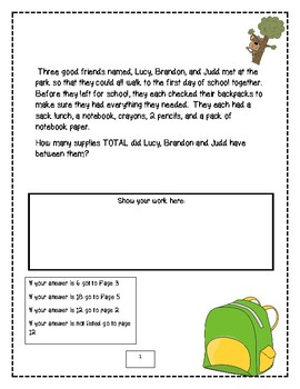 Back to School Math Detectives: Mystery of the Back to School Adventure!