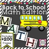 Back to School Math Essentials Bundle