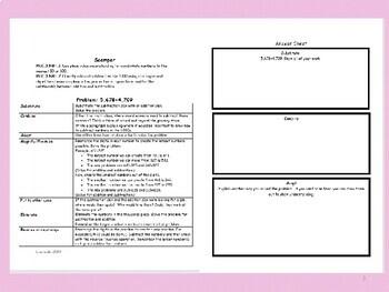 Back to School Math Extension Activities-3rd Grade-MCC.3.NBT.1 &MCC.3.NBT.2