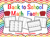 Back to School Math Facts