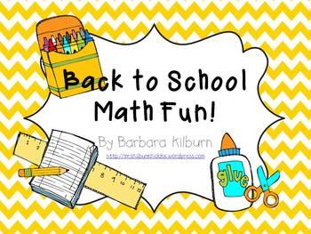 Back to School Math Fun {Common Core Aligned}