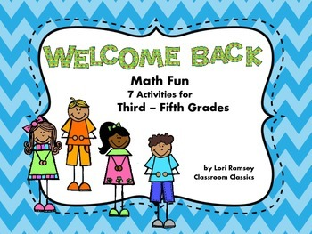 Back to School Math Fun Grades 3rd - 5th