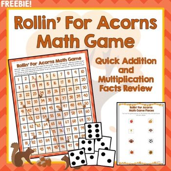 Math Facts Game Addition Multiplication 100s Chart Review Fall