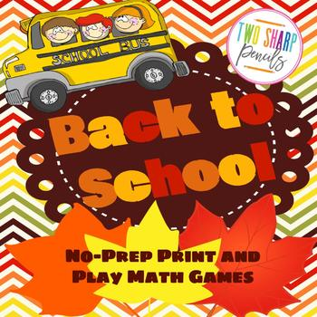 Beginning of the Year Math Games