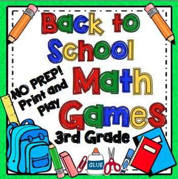 Back to School Math Games - 3rd Grade