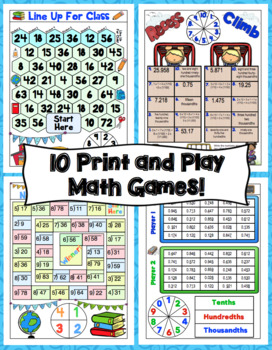 Back to School Math Games - 5th Grade