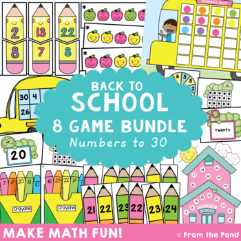 Math Centers for Back to School Math Games / Center Pack