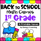 Back to School Math Games First Grade: Beginning of the Year Activities