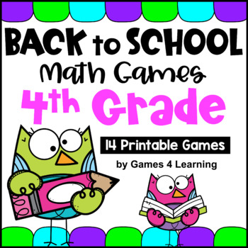 Back to School Math Games Fourth Grade: Back to School Activities