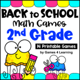 Back to School Math Games Second Grade: Beginning of the Year Activities