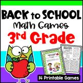 Back to School Math Games Third Grade: Beginning of the Ye