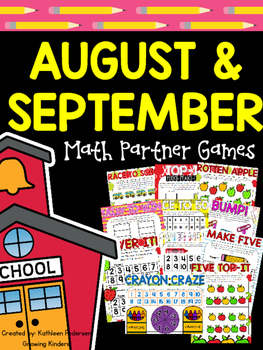 Back to School Math Games for Partners