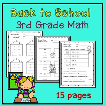 Back to School Math 3rd Grade