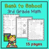 Back to School Math 3rd Grade