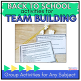 Back to School Math Activities: Group Challenges & Reflection Sheet
