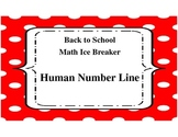 Back to School Math Ice Breaker Human Number Line