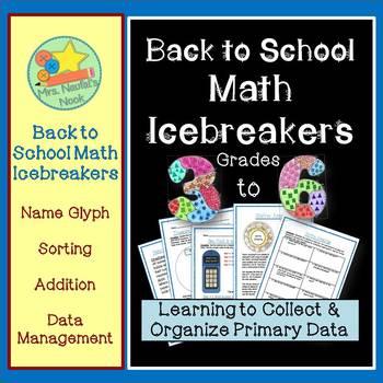 Back to School Math Icebreaker Activities