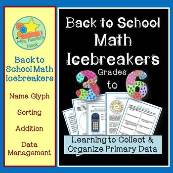 Back to School Math Icebreaker Activities by Sandra Naufal ...